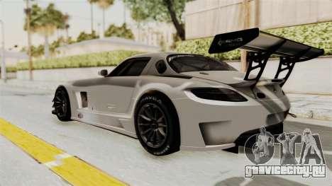 Mercedes-Benz SLS AMG GT3 PJ3 для GTA San Andreas вид справа