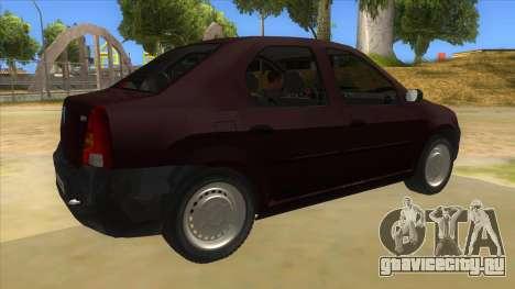 Dacia Logan V2 Final для GTA San Andreas вид справа