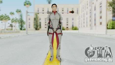ME 1 Ashley Williams Default White Armor для GTA San Andreas второй скриншот
