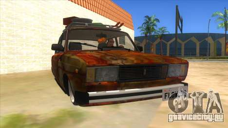 ВАЗ 2107 Ржавый Гринго для GTA San Andreas вид сзади