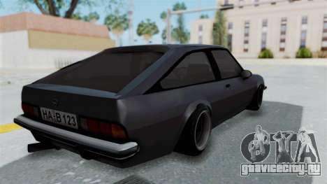 Opel Manta B1 CC для GTA San Andreas вид слева