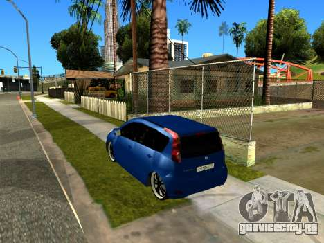 Nissan Note KURMIN StreetRacer для GTA San Andreas вид сзади