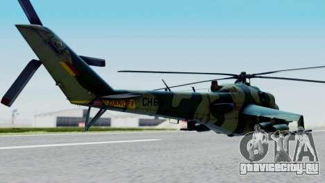 Mi-24V Sri-Lanka Air Force CH621 для GTA San Andreas вид слева