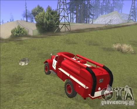 Газ 63 Пожарная машина для GTA San Andreas вид справа