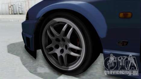 Nissan Skyline R33 GT-R V-Spec 1995 для GTA San Andreas вид сзади слева