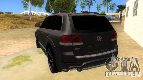 Volkswagen Touareg HQ для GTA San Andreas вид сзади слева