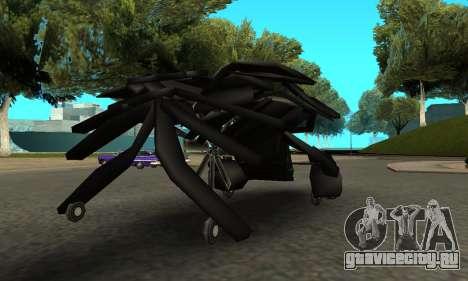 The Dark Knight Rises BAT v1 для GTA San Andreas вид справа