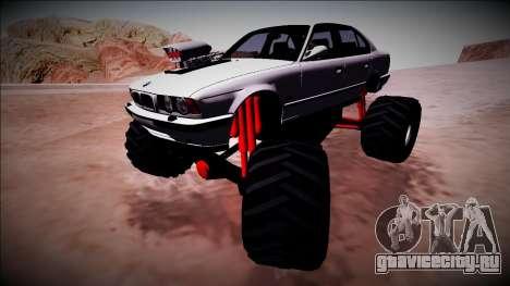 BMW M5 E34 Monster Truck для GTA San Andreas вид сверху