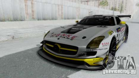 Mercedes-Benz SLS AMG GT3 PJ6 для GTA San Andreas вид снизу