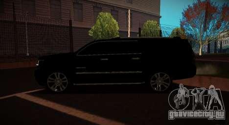 Chevrolet Suburban 2015 Прокуратура для GTA San Andreas вид слева
