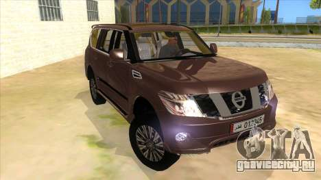 Nissan Patrol 2016 для GTA San Andreas вид сзади