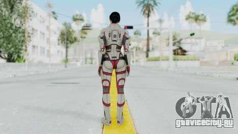 ME 1 Ashley Williams Default White Armor для GTA San Andreas третий скриншот