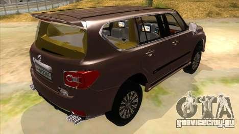 Nissan Patrol 2016 для GTA San Andreas вид справа