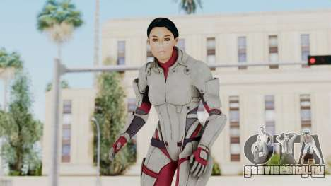 ME 1 Ashley Williams Default White Armor для GTA San Andreas