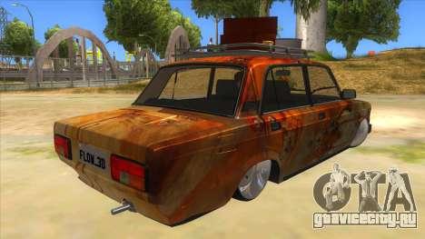 ВАЗ 2107 Ржавый Гринго для GTA San Andreas вид справа