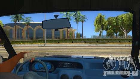 Dacia Solenza V2 для GTA San Andreas вид изнутри