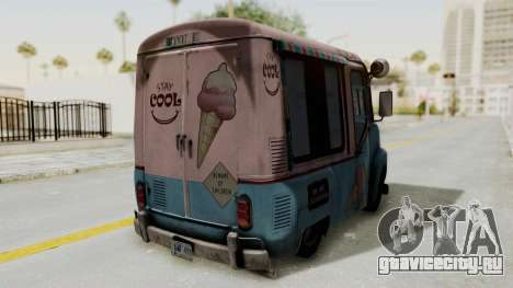 Hitman Absolution - Ice Cream Van для GTA San Andreas вид сзади
