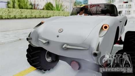 Chevrolet Corvette C1 1962 Monster Truck для GTA San Andreas вид снизу