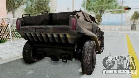 PITBULL from CoD Advanced Warfare для GTA San Andreas вид сзади слева