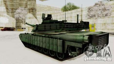 M1A2 Abrams Woodland Croatian для GTA San Andreas вид слева