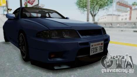 Nissan Skyline R33 GT-R V-Spec 1995 для GTA San Andreas вид сбоку