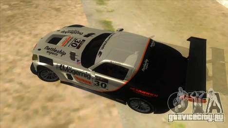Mercedes Benz SLS AMG GT3 для GTA San Andreas вид сбоку