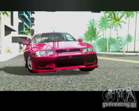 Nissan R33 GT-R Tunable для GTA San Andreas вид сбоку
