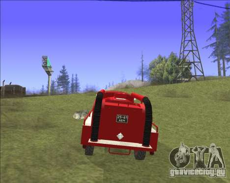 Газ 63 Пожарная машина для GTA San Andreas вид изнутри
