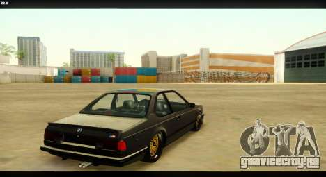 BMW M635 CSi (E24) для GTA San Andreas вид сверху