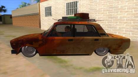 ВАЗ 2107 Ржавый Гринго для GTA San Andreas вид слева