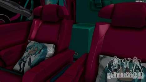 Toyota Vellfire Miku Pocky Exhaust Final Version для GTA San Andreas вид сзади