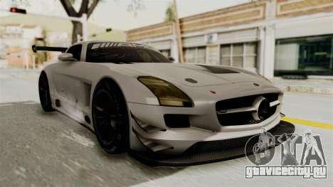 Mercedes-Benz SLS AMG GT3 PJ3 для GTA San Andreas вид сзади слева
