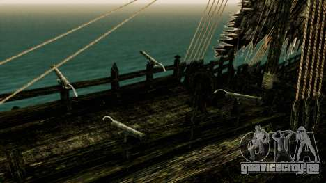 Flying Dutchman 3D для GTA San Andreas вид сзади