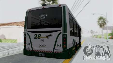 TodoBus Pompeya II Scania K310 Linea 28 Trailer для GTA San Andreas вид слева