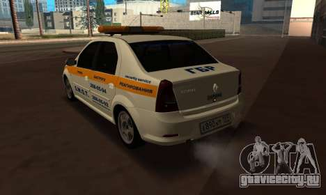 Renault Logan Security Service для GTA San Andreas вид слева