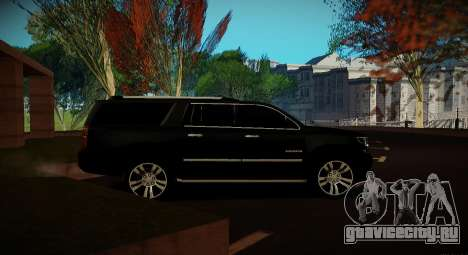 Chevrolet Suburban 2015 Прокуратура для GTA San Andreas вид сзади