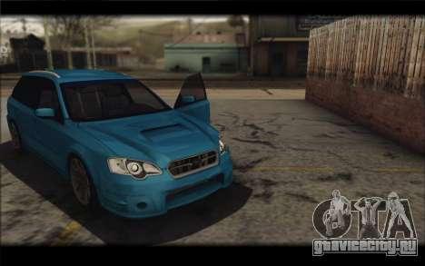 Subaru Legacy STi Wagon 2008 для GTA San Andreas вид справа