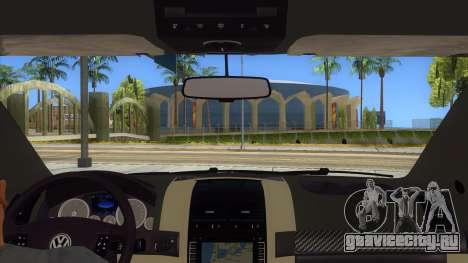 Volkswagen Touareg HQ для GTA San Andreas вид изнутри