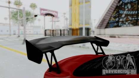BMW M4 F82 Race Tune для GTA San Andreas вид сзади