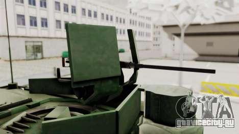 M1A2 Abrams Woodland Croatian для GTA San Andreas вид сзади