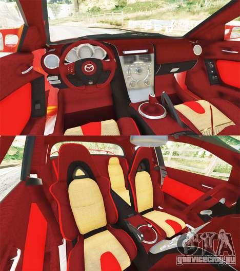 Mazda RX-8 2004 для GTA 5 вид сзади справа