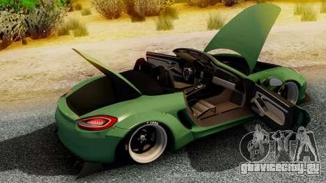 Porsche Boxster GTS LB Work для GTA San Andreas вид сзади слева
