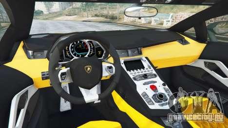 Lamborghini Aventador LP720-4 50th Anniversary для GTA 5 вид сзади справа
