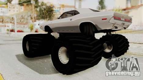 Dodge Challenger 1970 Monster Truck для GTA San Andreas вид справа