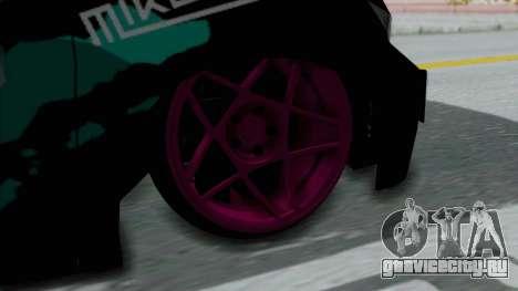 Toyota Vellfire Miku Pocky Exhaust Final Version для GTA San Andreas вид сзади слева