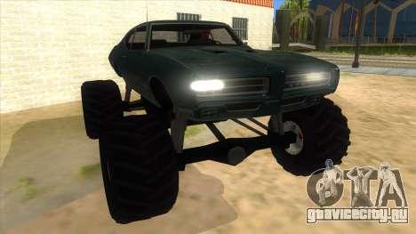 1969 Pontiac GTO Monster Truck для GTA San Andreas вид сзади