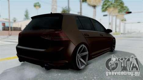 Volkswagen Golf 7 Stance для GTA San Andreas вид слева