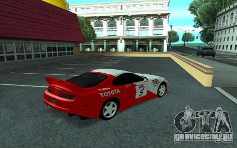 Toyota Supra Tunable для GTA San Andreas вид изнутри