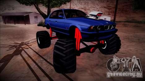 BMW M5 E34 Monster Truck для GTA San Andreas вид снизу