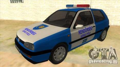 Volkswagen Golf 3 Police для GTA San Andreas